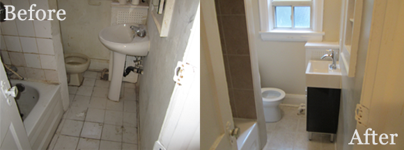 Bathroom 2 before & after