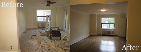 Family Room 2 before and after