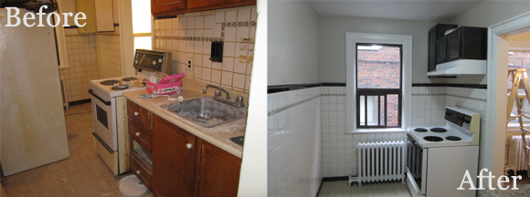 Kitchen 2 before & after